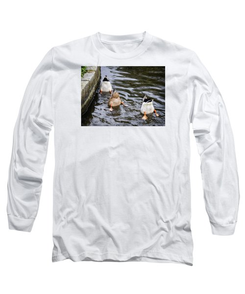 Bottoms Up Long Sleeve T-Shirt by Shirley Mitchell
