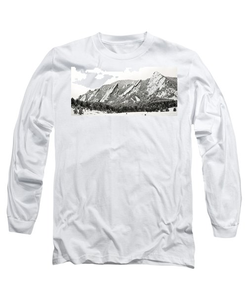 Boulder Flatirons Colorado 1 Long Sleeve T-Shirt by Marilyn Hunt