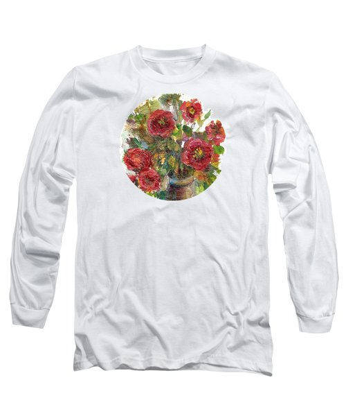 Long Sleeve T-Shirt featuring the painting Bouquet Of Poppies by Mary Wolf