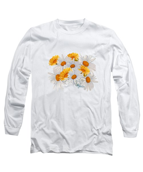 Bouquet Of Wild Flowers Long Sleeve T-Shirt by Angeles M Pomata