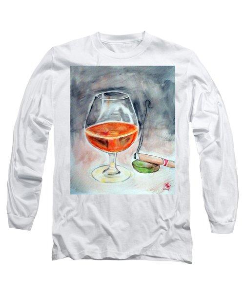 Bourbon And Smoke Long Sleeve T-Shirt