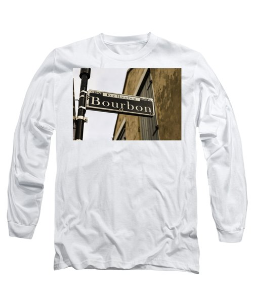 Bourbon Street, New Orleans, Louisiana Long Sleeve T-Shirt