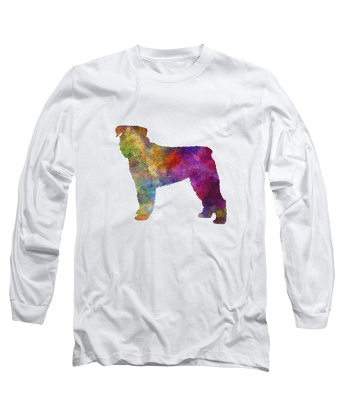 Bouvier Des Flandes In Watercolor Long Sleeve T-Shirt