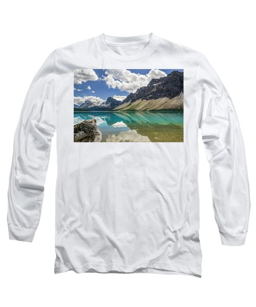 Long Sleeve T-Shirt featuring the photograph Bow Lake by Christina Lihani