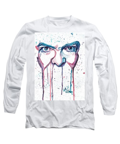 Long Sleeve T-Shirt featuring the painting Bowie by D Renee Wilson