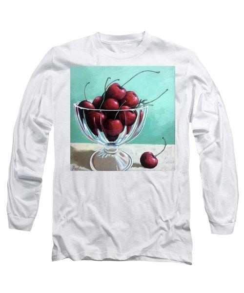 Bowl Of Cherries Long Sleeve T-Shirt by Linda Apple