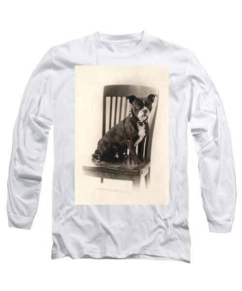 Boxer Sitting On A Chair Long Sleeve T-Shirt