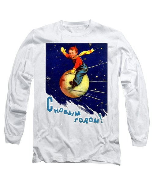 Boy Is Riding Russian Satellite Long Sleeve T-Shirt