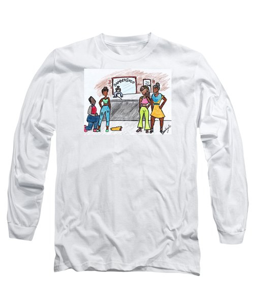 Boy Please Long Sleeve T-Shirt by Diamin Nicole