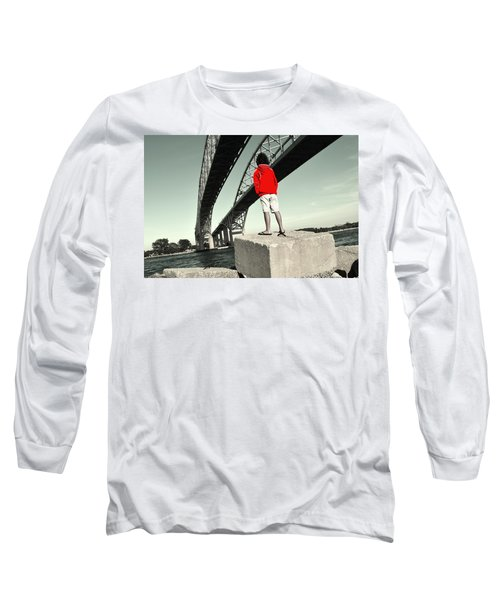Boy Under Bridge Long Sleeve T-Shirt