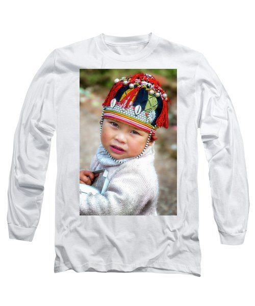 Boy With A Red Cap. Long Sleeve T-Shirt