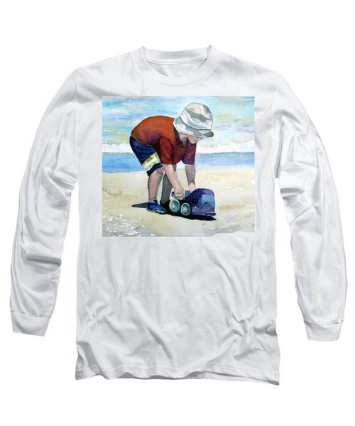 Boy With Truck Long Sleeve T-Shirt