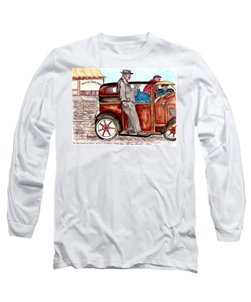 Bracco Candy Store - Window To Life As It Happened Long Sleeve T-Shirt by Philip Bracco