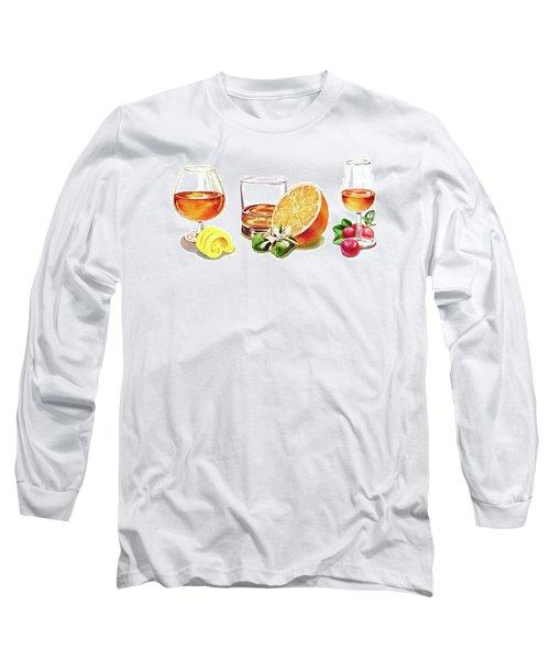 Brandy Whiskey Port Long Sleeve T-Shirt