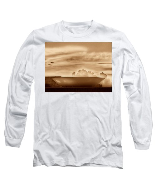 Long Sleeve T-Shirt featuring the photograph Brasilia In Sepia by Beto Machado
