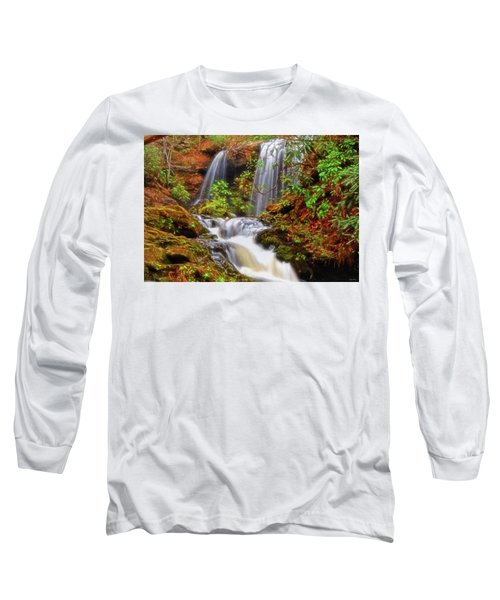 Brasstown Falls 013 Long Sleeve T-Shirt by George Bostian
