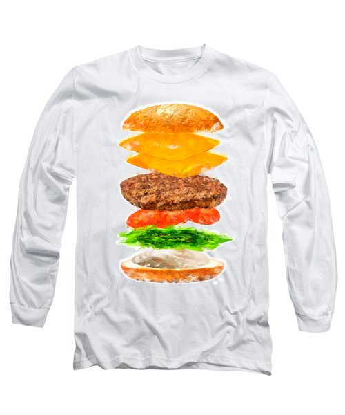 Brazilian Salad Cheeseburger Long Sleeve T-Shirt