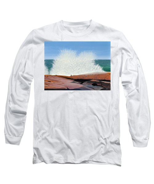 Breakers On Georgian Bay Long Sleeve T-Shirt
