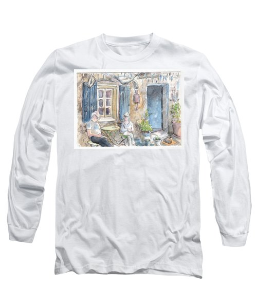 Long Sleeve T-Shirt featuring the painting Breakfast Al Fresco by Tilly Strauss