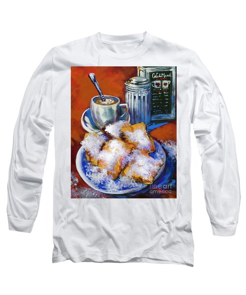 Breakfast At Cafe Du Monde Long Sleeve T-Shirt