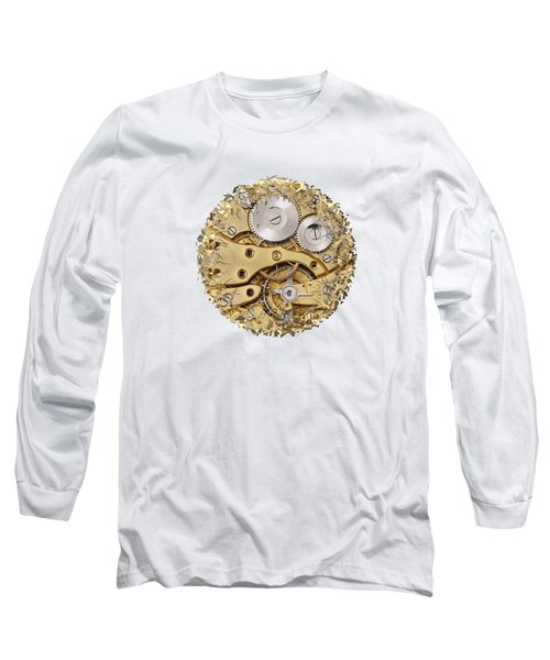 Long Sleeve T-Shirt featuring the photograph Breaking Apart Clockwork Mechanism by Michal Boubin