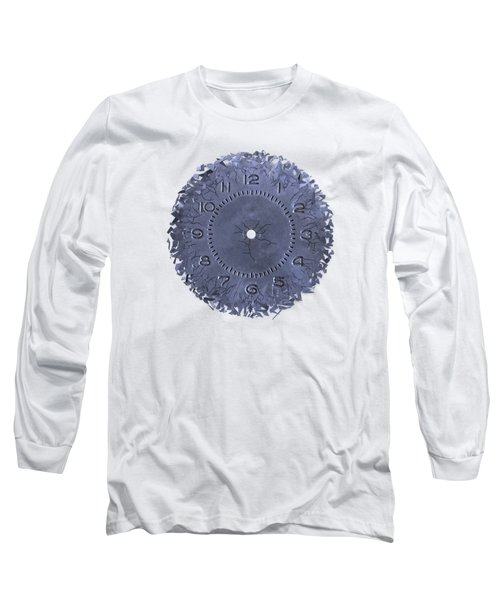 Breaking Apart Of The Old Clock Face Long Sleeve T-Shirt by Michal Boubin
