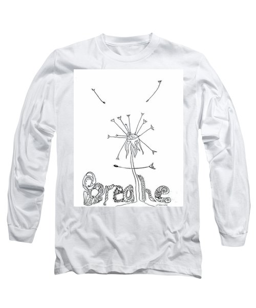 Long Sleeve T-Shirt featuring the drawing Breathe by D Renee Wilson