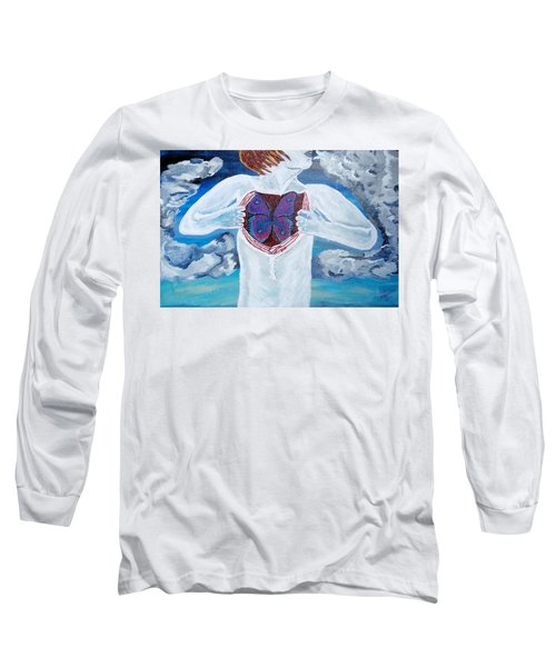 Breathe Deep Long Sleeve T-Shirt by Lisa Brandel