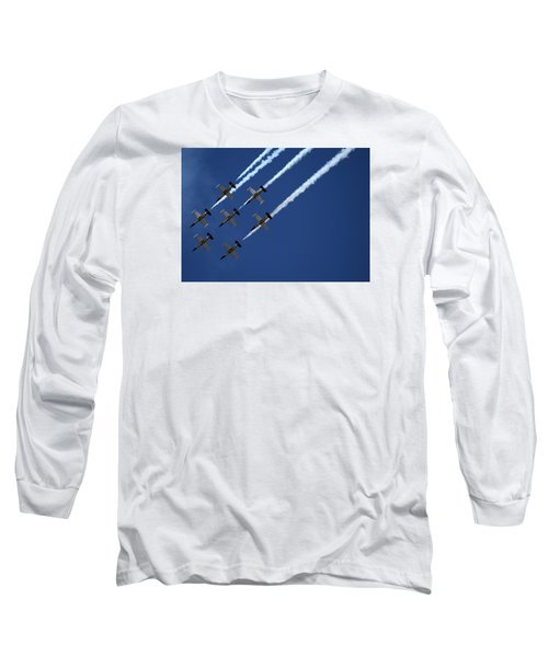 Breitling Team Crowd Pleases At Reno Air Races Long Sleeve T-Shirt