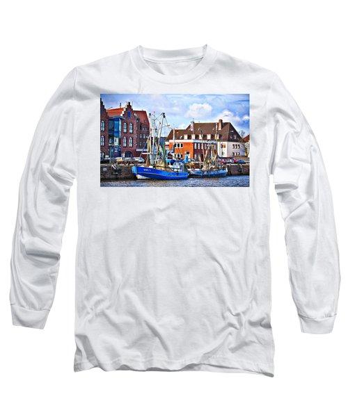 Bremerhaven Harbor, Germany Long Sleeve T-Shirt