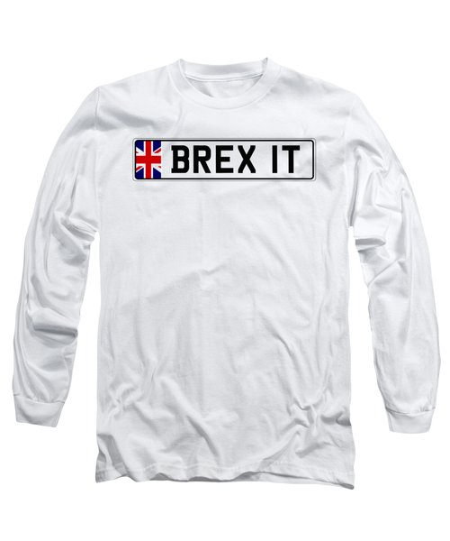 Brexit Number Plate Long Sleeve T-Shirt by Roger Lighterness