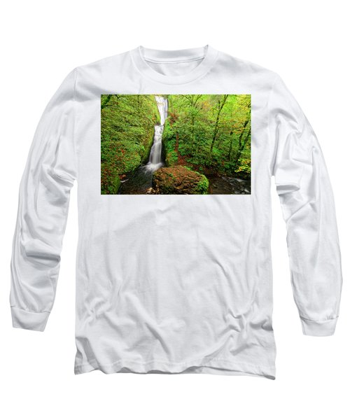 Bridal Veil Falls Long Sleeve T-Shirt by Jonathan Davison
