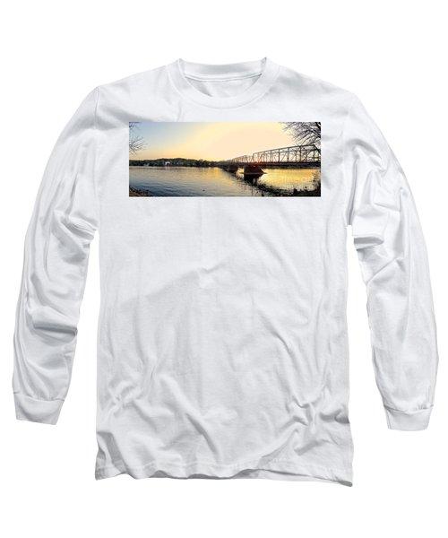 Bridge And New Hope At Sunset Long Sleeve T-Shirt
