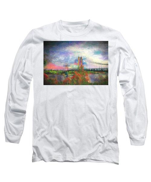 Bridge Blues Long Sleeve T-Shirt by Terry Cork
