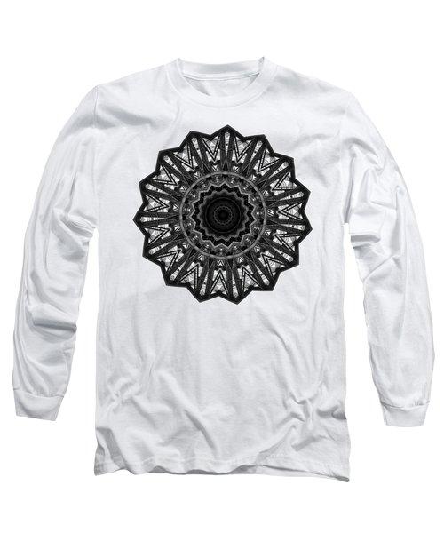 Bridge Construction Kaleidoscope By Kaye Menner Long Sleeve T-Shirt
