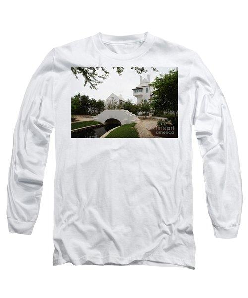 Bridge In Alys Beach Long Sleeve T-Shirt by Megan Cohen