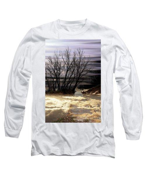 Bridge Long Sleeve T-Shirt by Joan Ladendorf