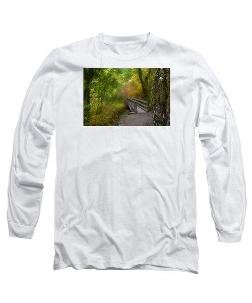 Bridge To Lightness Long Sleeve T-Shirt by Laura Ragland
