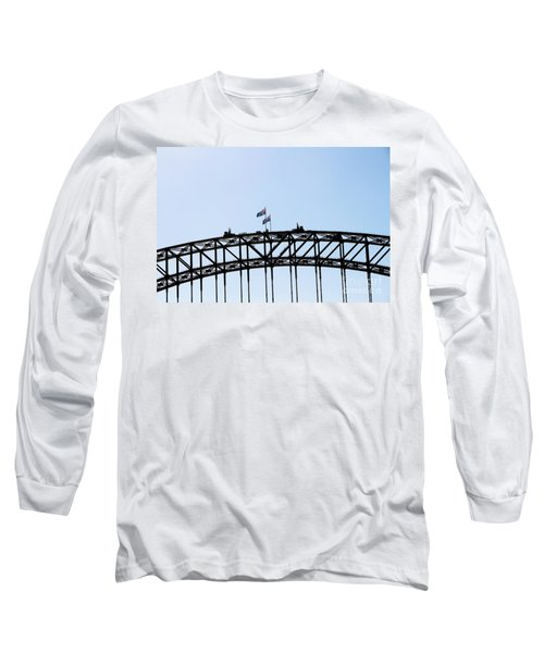Long Sleeve T-Shirt featuring the photograph Bridge Walk by Stephen Mitchell