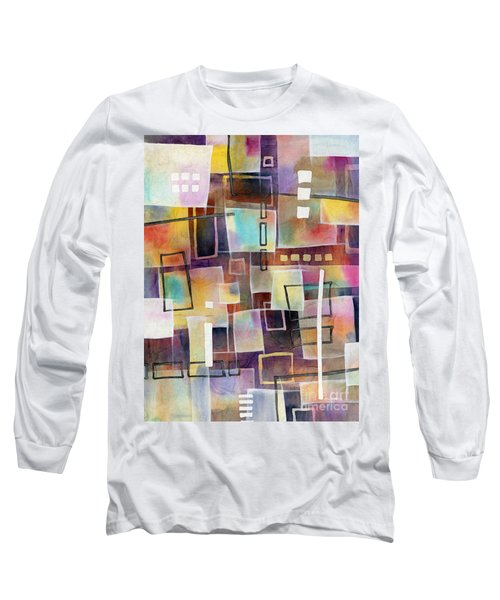 Long Sleeve T-Shirt featuring the painting Bridging Gaps 2 by Hailey E Herrera