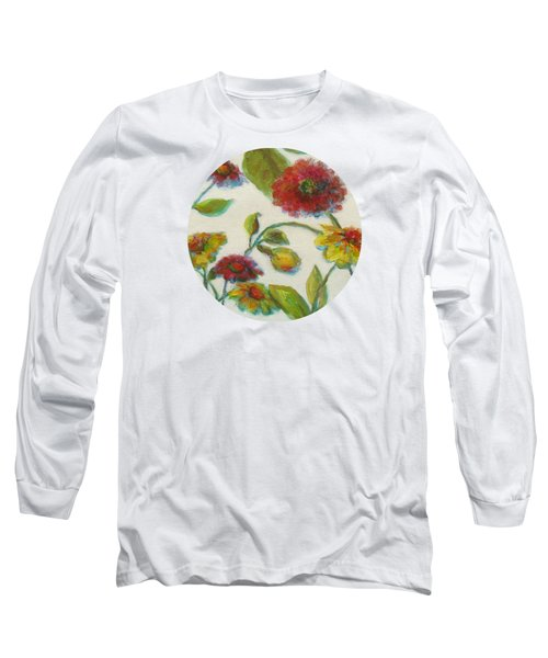 Bright Contemporary Floral  Long Sleeve T-Shirt