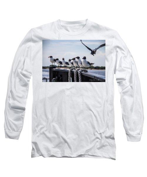 Bringing Up The Rear Long Sleeve T-Shirt by Phil Mancuso