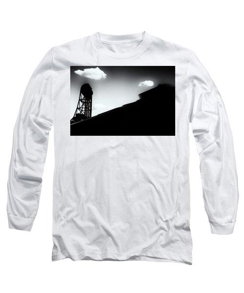 Broadway Bridge Abstract 1 Monochrome Long Sleeve T-Shirt