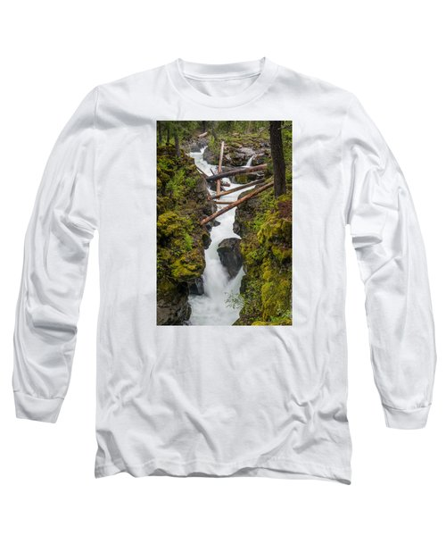 Broiling Rogue Gorge Long Sleeve T-Shirt by Greg Nyquist