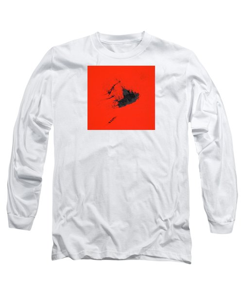 Long Sleeve T-Shirt featuring the painting Broken Heart by Michael Lucarelli