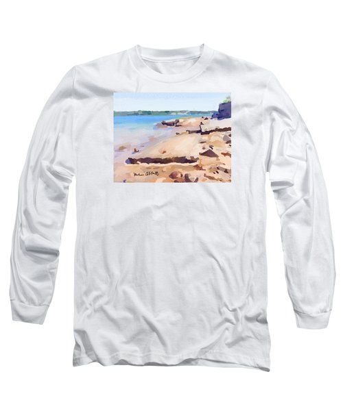 Broken Walkway Rock At Ten Pound Island Beach Long Sleeve T-Shirt