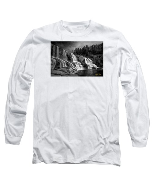 Long Sleeve T-Shirt featuring the photograph Brooding Gooseberry Falls by Rikk Flohr