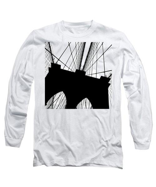 Brooklyn Bridge Architectural View Long Sleeve T-Shirt