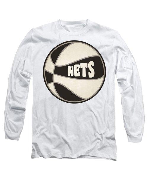 Long Sleeve T-Shirt featuring the photograph Brooklyn Nets Retro Shirt by Joe Hamilton