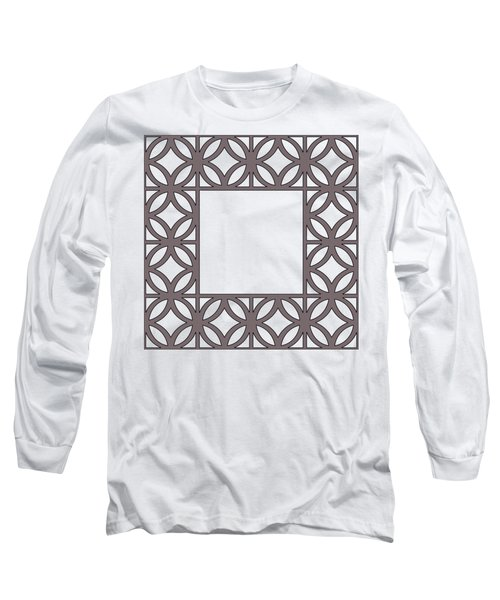 Brown Circles And Squares Long Sleeve T-Shirt